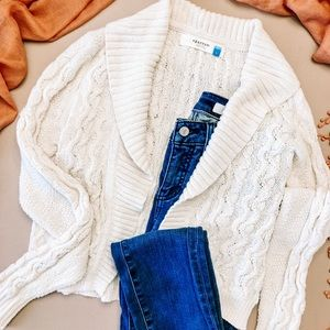 Anthropologie Sparrow Covered in Cables Cardigan